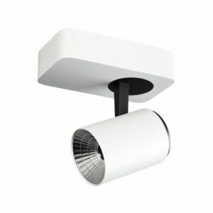 Светильник накладной Quest Light FIST 1 white/black, поворотный, белый с черной вставкой, под лампу на стену