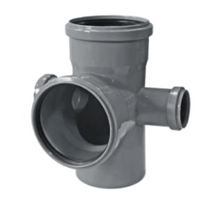 Двухплоскостная крестовина для внутренней канализации SINIKON 512037.R Ду 110x110x50x50мм 8790˚ полипропилен